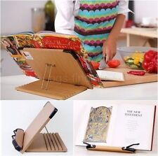 Recipe Book Stand Study Reading Adjustable Tablet Holder Desk Wooden Rack Easel