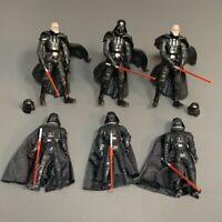 """Lot 6PCS Star Wars Saga Lagends 2003 & 2005 """"Darth Vader 3.75"""" Action Figure Toy"""