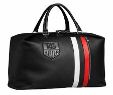 Tag Heuer Travel Bag Genuine Leather Swiss Phantomatik Stylish Authentic New