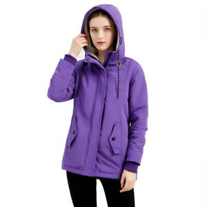 Womens Hooded Coat Warm Loose Winter Warm Outerwear Jacket Zipper New
