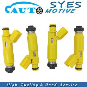 4Pcs Fuel Injectors 23250-28050 Fits For 2001-2003 Toyota RAV4 2.0L