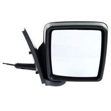 VAUXHALL COMBO MK2 2001-2012 BLACK MANUAL DOOR WING MIRROR DRIVER SIDE OFF SIDE
