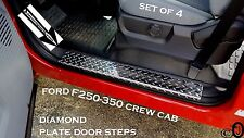 Ford F250/350 Pick Up Truck Crew Cab Diamond Plate Door Step Covers  >> Set Of 4