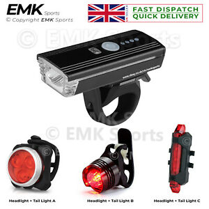 Super Bright Bicycle Head & Taillight Set Water Resistant with Loud Horn