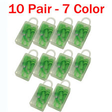 Ear Plugs 10 Pairs Silicone Soft Anti Noise Hearing Protection Sleep Comfortable