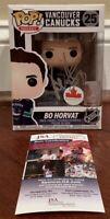 Bo Horvat Autographed Signed NHL Pop Funko Vancouver Canucks JSA COA