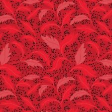 Clothworks Maestro by Barb Tourtillote Y1402 4 MEDIUM TOSSED Red Cotton Fabric