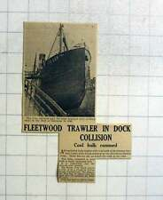 1951 Fleetwood Trawler Urka In Dock Collision, Fred Day