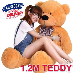 1.2M Doll Cuddly Giant Animal Brown Bear Stuffed Christmas Teddy Gift Plush ACB#