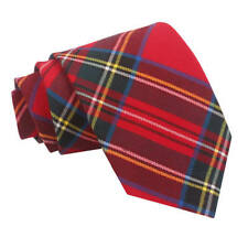 d3f823d4b457 DQT Woven Tartan Plaid Red Royal Stewart Formal Casual Mens Classic Tie