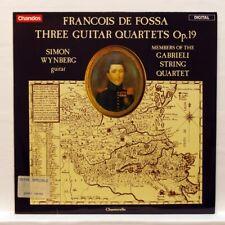 SYMON WYNBERG, GABRIELI SQ - FRANCOIS DE FOSSA 3 guitar quartets CHANDOS LP EX++
