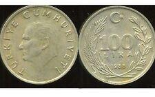 TURQUIE  100 lira 1988  ( bis )