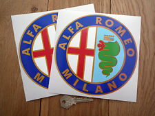 ALFA ROMEO MILANO 160mm classic racing car stickers