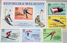 Madagascar MALAGASY 1976 802-06 B Bloc 13 B medal winner Olympics Innsbruck MNH