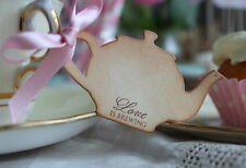 LOVE IS BREWING-TEA FAVOURS-Teapot-Vintage Style Tags/Labels-Set of 10-Wedding