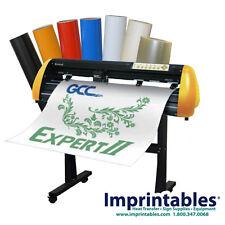 """Vinyl Cutter PACKAGE - GCC Expert II 24"""", Sign Supplies & Stand - **NEW"""