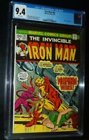 THE INVINCIBLE IRON MAN #62 1973 Marvel Comics CGC 9.4 NM