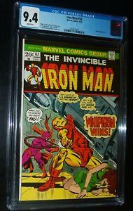 THE INVINCIBLE IRON MAN #62 1973 Marvel Comics CGC 9.4 NM !