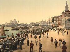 Fotografia marinai RIVA DEGLI SCHIAVONI VENICE ITALIA Arte Poster Stampa lv3555