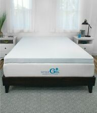 "SensorGel Queen Mattress Topper Luxury Cooling 3.0"" Gel-Infused Memory Foam"