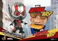 3pcs HOTTOYS COSB490 Ant-Man and the Wasp Set COSBABY Q Edition Figure Dolls