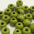 """TUNGSTEN FLY TYING BEADS OLIVE 4.5 MM 3/16"""" 100 COUNT"""