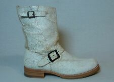 Frye Veronica Cracked Boot Distressed Leather Buckle Harness Boots Womens 9.5 B