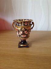 ROYAL CROWN DERBY 'Miniature Imari Urn' Genuine AntiqueExcellent Condition
