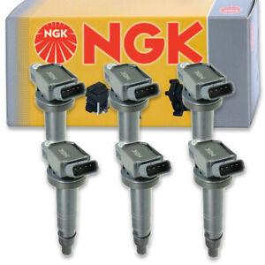 6 pcs NGK Ignition Coil for 2005-2015 Toyota Tacoma 4.0L V6 - Spark Plug vi