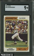 1974 Topps #241 Glenn Beckert Washington Variation SGC 9 MINT