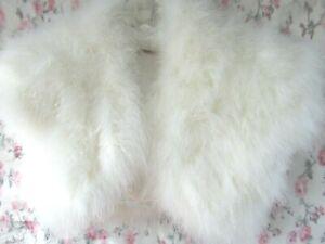 BNWOT IVORY MARABOU FEATHER Fur BRIDAL Shrug Jacket M 10/12 John Lewis £95