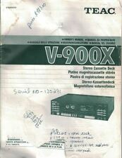 TEAC V-900X Stereo Cassette Deck Owner's Manual Vintage Manual Book Only