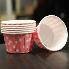 100 x high quality paper MINI Muffin Cup Cake Liner Baking Cases Various Colors