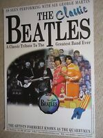 THE CLASSIC BEATLES POSTER GIG CONCERT UNRELEASED DRAFT GIG POSTER 2000 MINT GEM