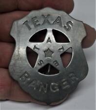 Reproduced Texas Ranger Badge Star Center T E X A S