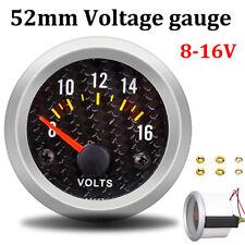 2 52mm Led Voltmeter 8 16v Car Auto Gauge Voltage Volt Pointer Panel Meter 12v