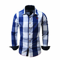 New Men Casual Shirt Slim Fit Stylish Dress Shirts Long Sleeve Men's Tops