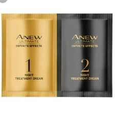 2 x Avon Anew Ultimate Infinite Effects Night Treatment Cream Samples.