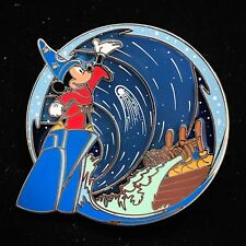 LE 500 Sorcerer Hat Mickey Fantasia Blue Stained Glass #4 4 Disney Park Pack Pin
