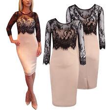 Knee Length Cotton Blend Scoop Neck Petite Dresses for Women