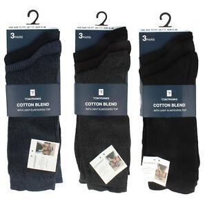 Herren Tom Franks 3 Paar Packung Baumwollmischung Socken Mit Licht Elastisch Top