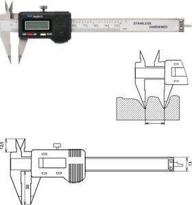 Digitaler Messschieber 100 mm spitze Messschenkel, Schieblehre für kleine Nuten