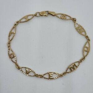 9ct Yellow Gold I Love Mum Chain Bracelet Hallmarked