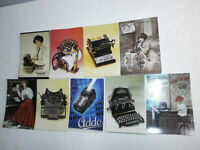 Konvolut 100 nostalgische Postkarten alte Bürotechnik und Schreibmaschinen