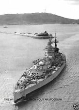 ROYAL NAVY BATTLESHIP HMS NELSON AT PORTLAND ON 1 FEBRUARY 1947