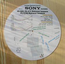 Sony PS-X65/PS-X75/PS-X700 tonearm Cartouche Stylet Alignement Rapporteur