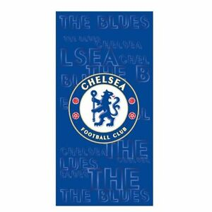 NEW CHELSEA FOOTBALL CLUB  CREST TOWEL  BEACH TOWEL - 100% OFFICIAL  NQP