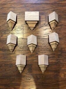 "Crown Molding Corners Solid Oak-inside/mid transition 8 piece 3 5/8"" Set"