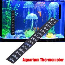 Digital Aquarium thermometer Fish Tank Flat  Measuring Sticker Stick on glasses