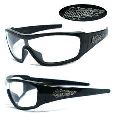 1 Piece Lens Choppers Biker Men UV400 Sunglasses + Pouch - Clear C40